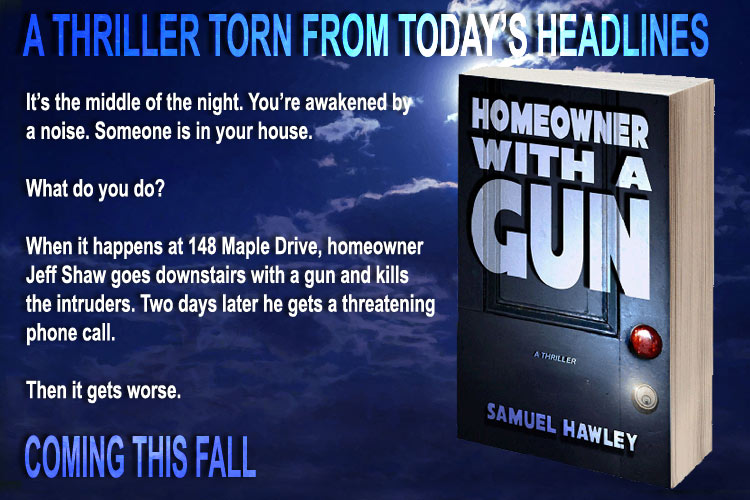 Homeowner With a Gun thriller novel Hawley