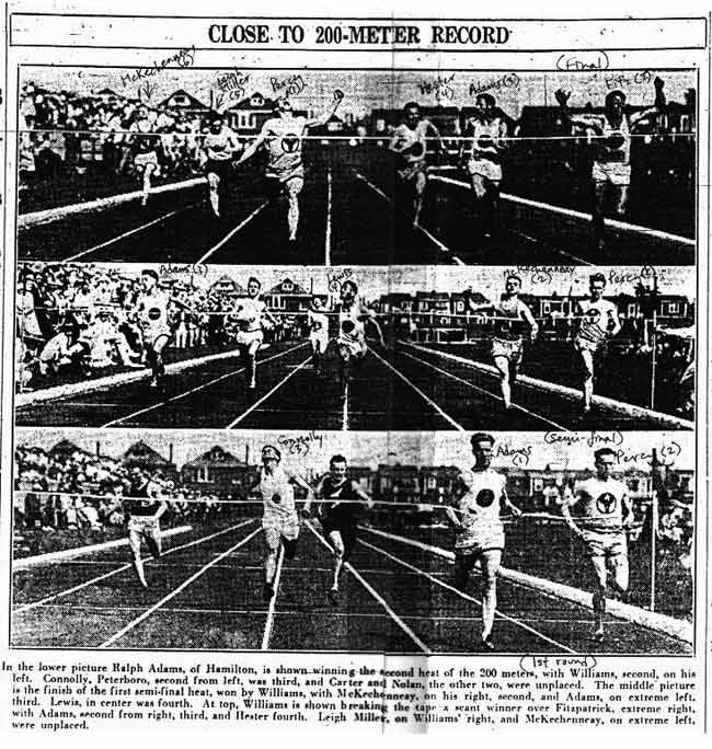 canadian olympic trials 1928 200 metres