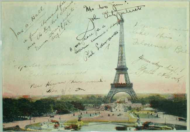 percy williams paris postcard